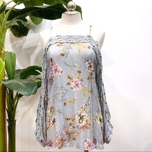 Gimmicks Floral Open Long Sleeve Top